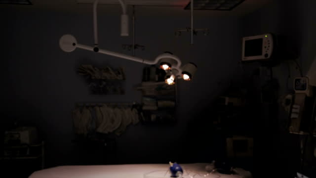 Surgery lamp flare video effect. video