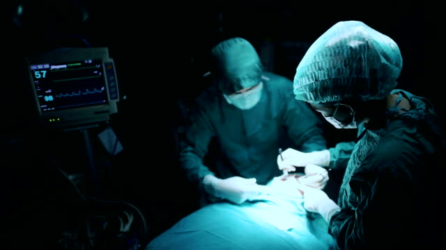 Surgery team in the operating room video