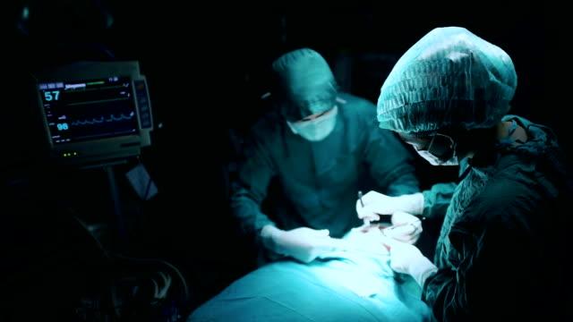 Cirugía equipo en el funcionamiento de la habitación - vídeo