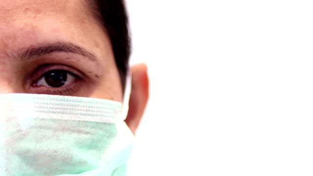 Médico cirúrgico com espaço de cópia lateral - vídeo