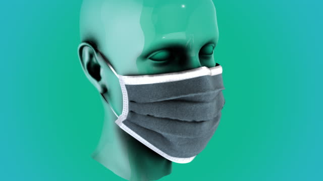 Surgical mask -woman- zoom out video