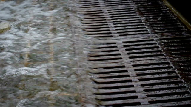 Surging Water going down a drainage system video