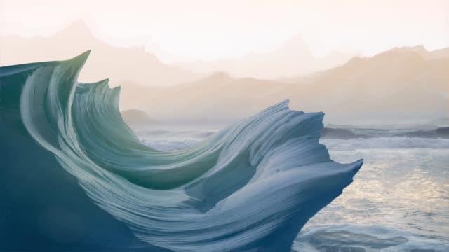 stockvideo's en b-roll-footage met surrealistisch en episch landschap - rocks sea