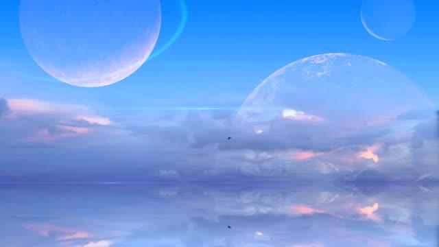 Surreal blue world video