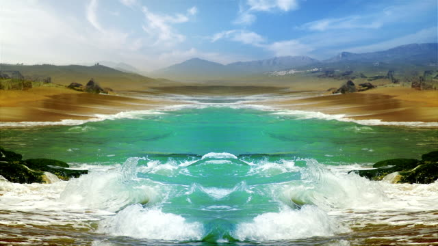 Surreal landscape with elements of symmetry video