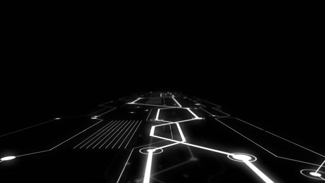 Surreal motion on electronic road in outer space.