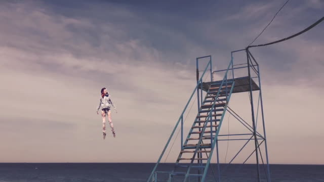 Surreal Time lapse Surreal Time lapse in Odessa levitation stock videos & royalty-free footage