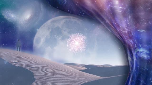 シュールな白い砂漠 - シュール点の映像素材/bロール