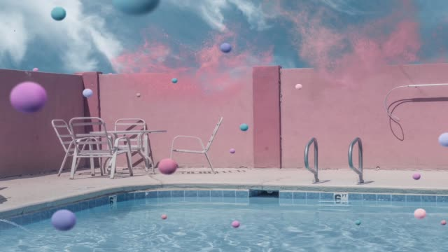 Surrealistic waterpool action Surrealistic waterpool action summer background stock videos & royalty-free footage