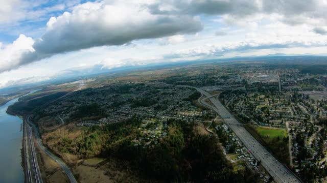 Surrey BC British Columbia Canada Aerial View Surrey BC British Columbia Canada Aerial View british columbia stock videos & royalty-free footage