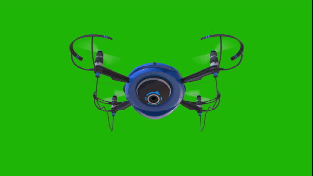 vídeos de stock, filmes e b-roll de vigilância drone pairando contra tela verde - quadricóptero