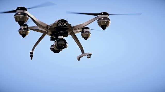 vídeos de stock, filmes e b-roll de vigilância quadrocopter - avião sem piloto