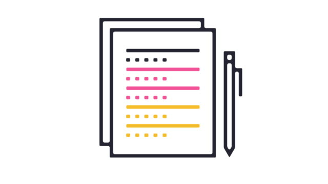 Survey Icon Animation Thin line animation of question and answer icon on white background. survey icon stock videos & royalty-free footage