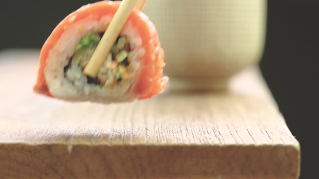 sushi black background video