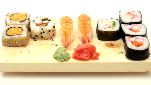 Sushi eating fast motion - HD video