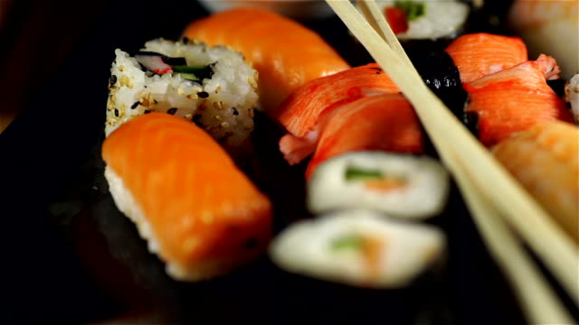 Sushi Plate Close-up video