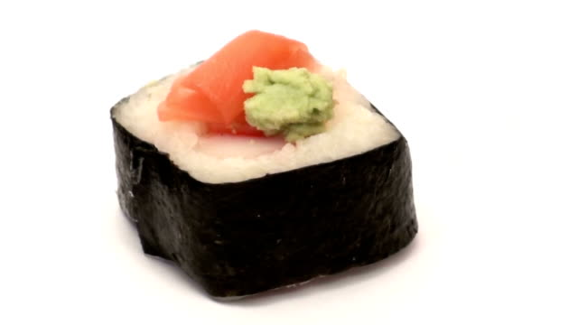 Sushi roll background- HD video