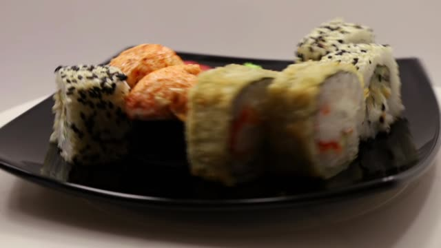sushi, rolls, Japanese cuisine, ginger, wasabi