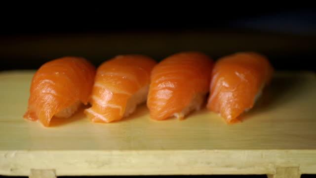 寿司セットです。マクロ ビデオ