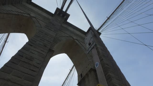 Suspension Cable and Towers on the Brooklyn Bridge