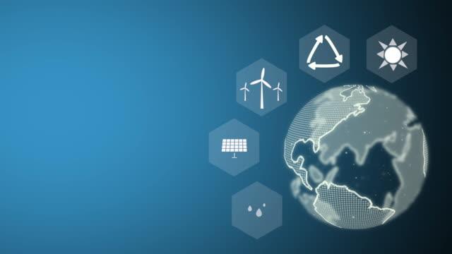 vídeos de stock e filmes b-roll de sustainability, natural energy, solar energy - green world