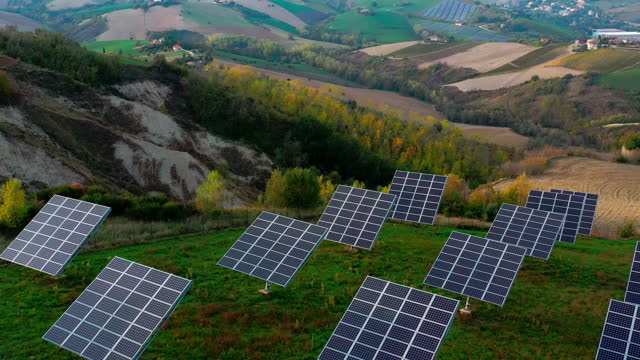 Sustainable eco-energy, photovoltaic solar panels video