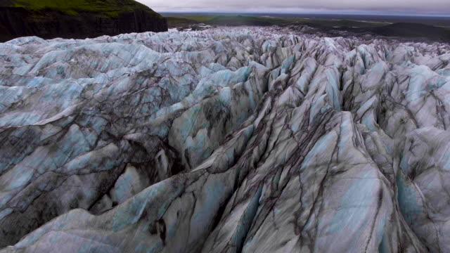Glaciar Svinafellsjokull en Vatnajokull, Islandia. - vídeo