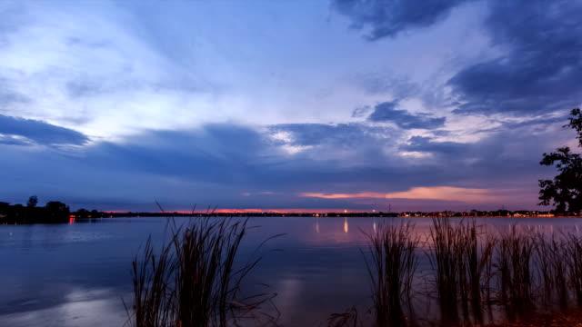 swamp view twilight video