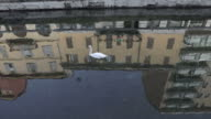istock Swan Swimming In Water Canal Navigli District Milan Italy 1218760543