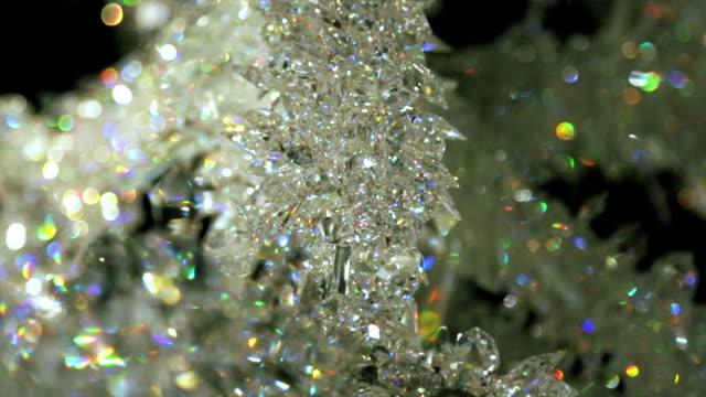 swarovski crystals - kristal stok videoları ve detay görüntü çekimi