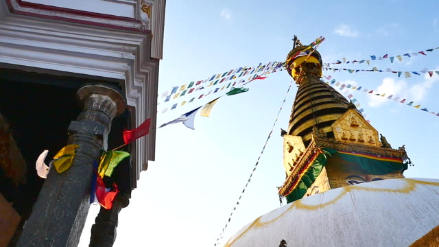 Swayambhunath Stupa : Symbol Of Nepal, Buddha's Eyes In Kathmandu. video