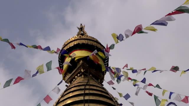 Swayambhunath temple, Kathmandu, Nepal, Asia video