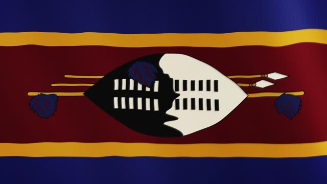 Swaziland flag waving animation. Full Screen. Symbol of the country video