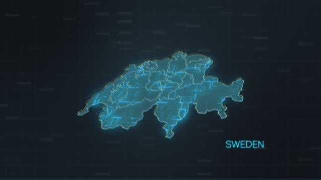sverige karta med världskarta - sweden map bildbanksvideor och videomaterial från bakom kulisserna