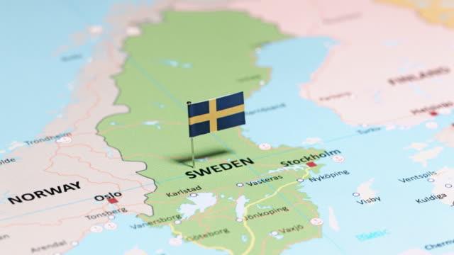 sverige med flagga - sweden map bildbanksvideor och videomaterial från bakom kulisserna