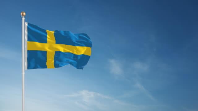 4 K der schwedischen Flagge Endlos wiederholbar – Video