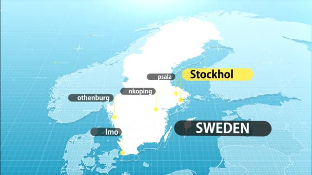 svenska karta - sweden map bildbanksvideor och videomaterial från bakom kulisserna