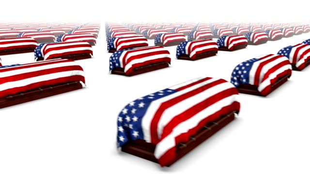 Sweeping across endless American Coffins side video