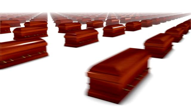 Sweeping across endless Coffins (wood) video