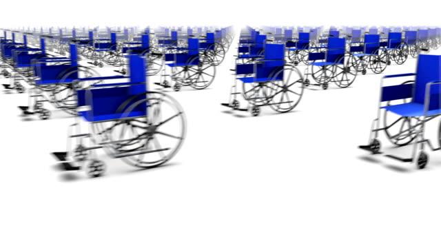 Una al lado de infinitas silla de ruedas - vídeo