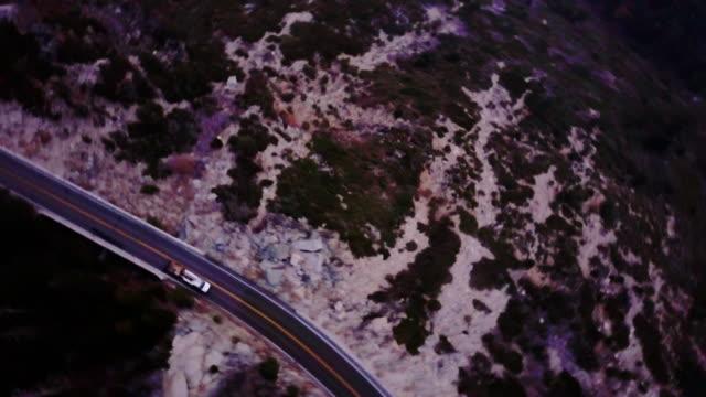 Sweeping Aerial Shot of Sierra Nevada Highway video