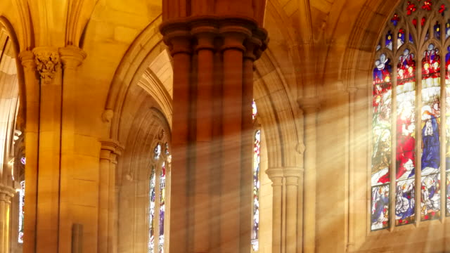 Sweeping Stained Glass Light Rays