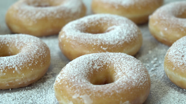 sweet dessert with many donut - bombolone video stock e b–roll