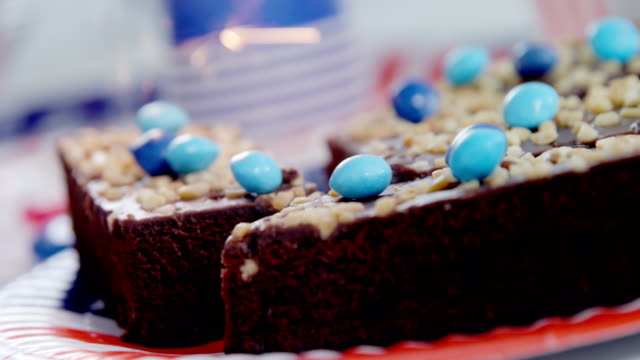 Sweet food decorated with 4th july theme video