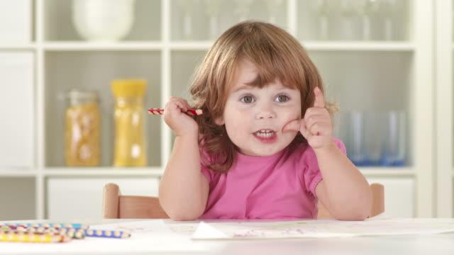 HD: Sweet Little Girl Thinking video