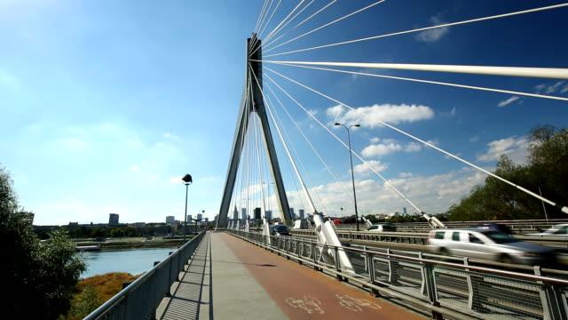 Swietokrzyski Bridge with Skyline Warsaw video