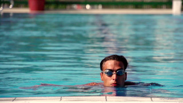 Swimmer in the pool video