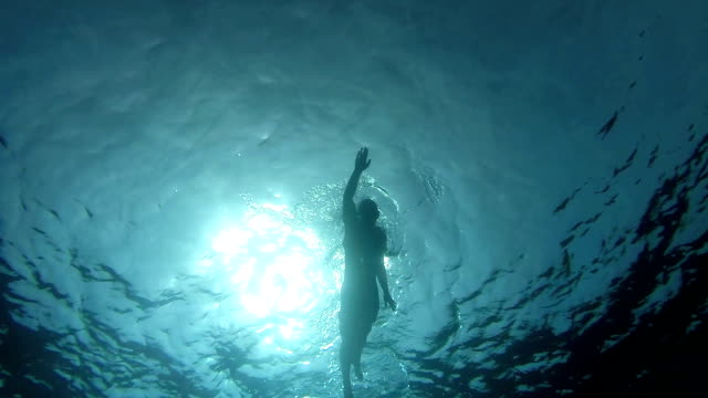 Swimming crawl Man swimming in the sea, view from down swimming stock videos & royalty-free footage