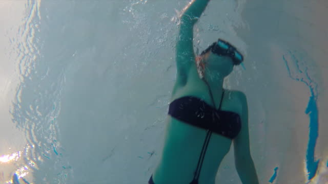Swimming from underwater view video