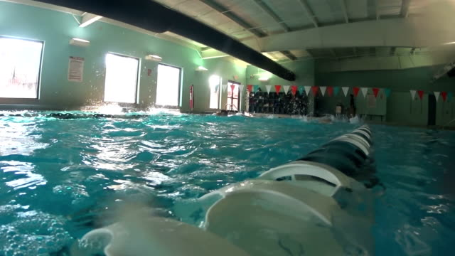 Swimming Laps In Pool video